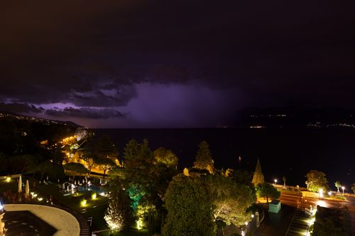Lausanne / Ouchy Thunderstom on Lake Geneva late at night