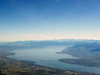Lake Geneva, Switzerland from the air