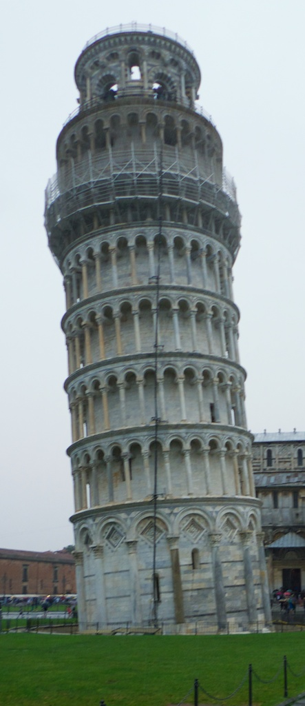 Leaning Tower of Pisa in the Rain